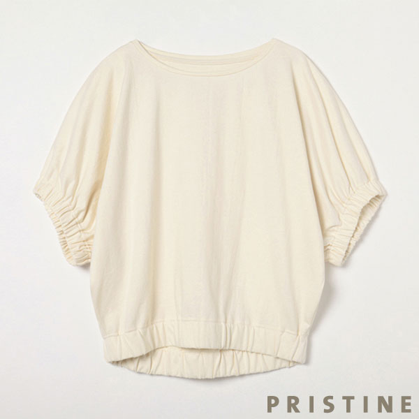 プリスティン パフスリーブドルマンTシャツ ナチュラル/Mサイズ