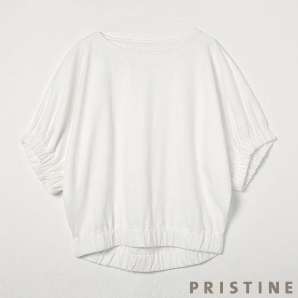 プリスティン パフスリーブドルマンTシャツ ホワイト/Mサイズ