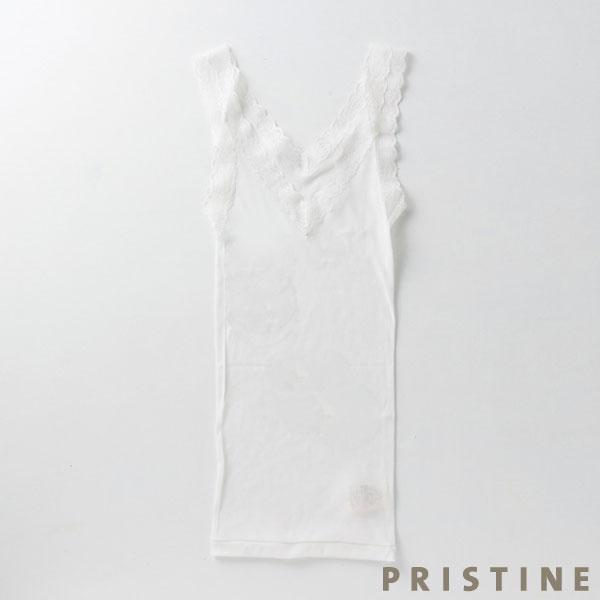 プリスティン シルクレーステレコタンクトップ Mサイズ