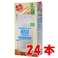 【ケース販売/お買い得】有機JAS認証済み 有機発芽玄米(GABA)ギャバライスミルク 1000ml×24本(2ケース)/発芽玄米で作った100%オーガニック 自然の甘さ