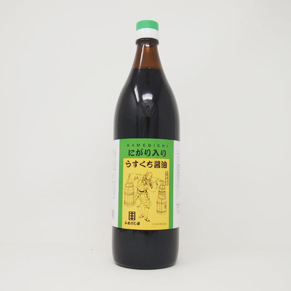 5%OFF 誕生日 お祝い かめびし 薄口醤油 0.9L