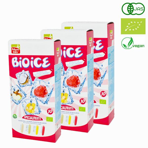 オーガニック ビオアイス スペシャルフルーツ 400ml(40ml×10本)×3箱セット