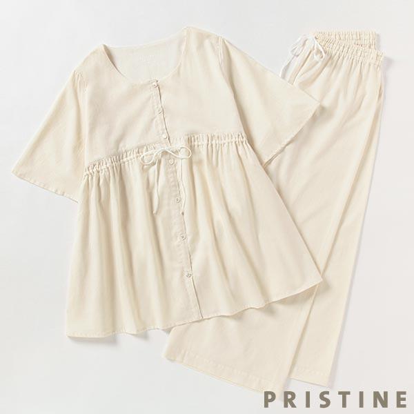 プリスティン サテン前開きパジャマ Mサイズ