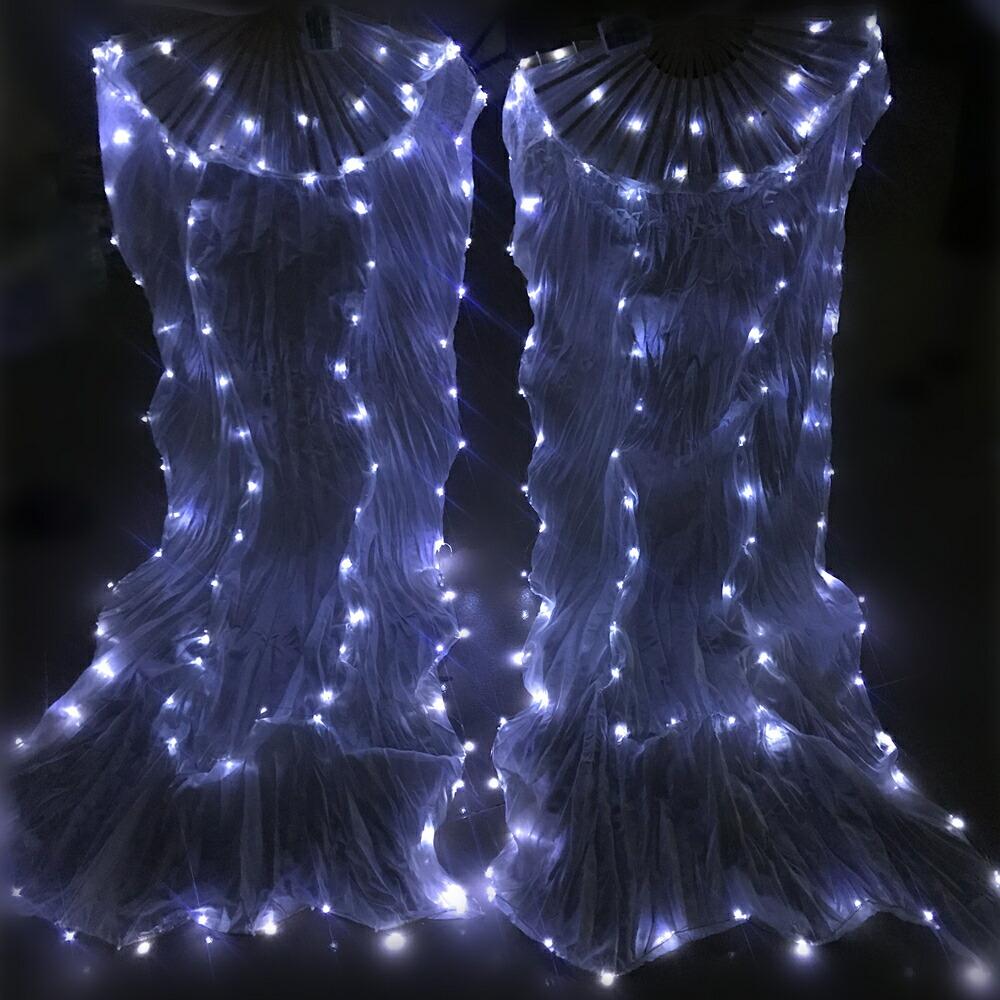 ベリーダンス LED ファンベール 1セット(右手左手分)[送料無料] *海外よりお取り寄せアイテム