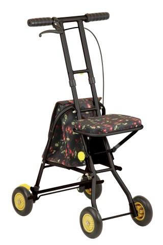 [シルバーカー] 幸和製作所 プチカ SICP01‐BK(折り畳み 軽量)【送料無料】