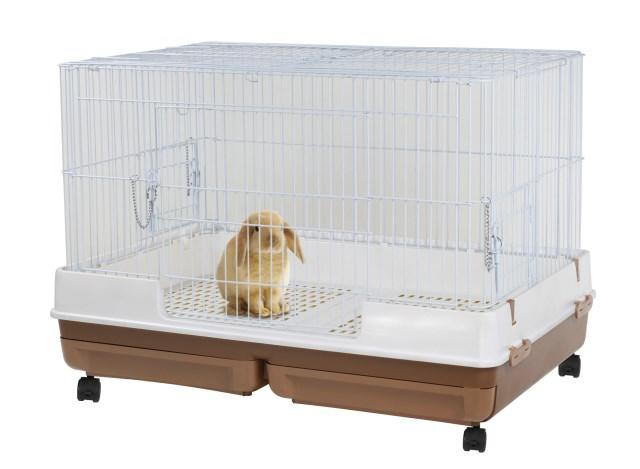 うさぎのカンタンおそうじケージ ワイドB[ウサギ 小動物 用品 ケージ]【送料無料】