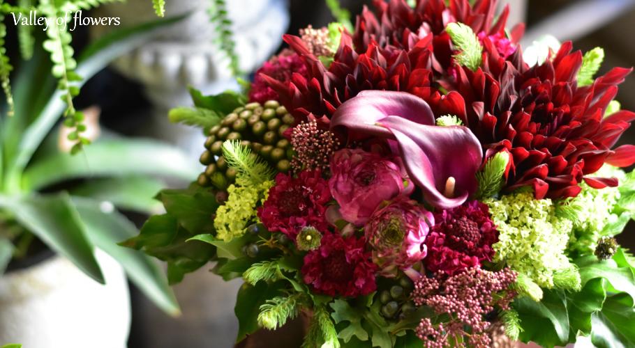 valley of flowers:気軽に贈れるお花を提案します、オシャレ、個性的、アレンジント
