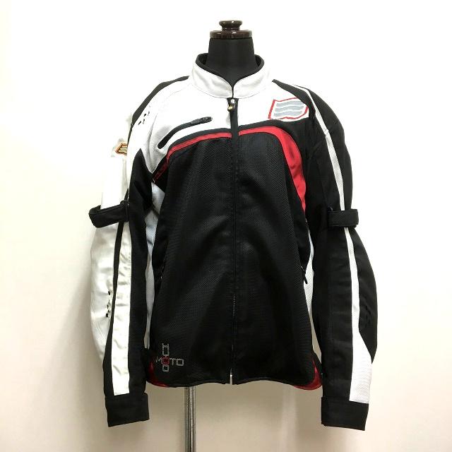 ヒョウドウ HYOD PRODUCTS D3O ライディングジャケット LL ブラック/ホワイト 白 黒 オートバイ バイクウェア 春秋 メンズ 【中古】【ベクトル 古着】 180819 VECTOR×Refine
