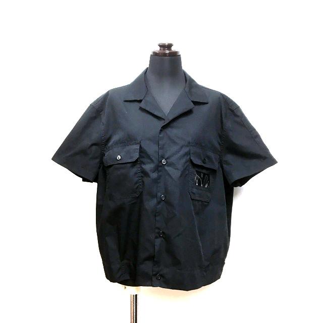 ラフシモンズ RAF SIMONS 18SS Short 2 pockets shirt ショート丈シャツ トップス 半袖 48 ブラック 黒 春夏 メンズ 【中古】【ベクトル 古着】 190125 VECTOR×Refine