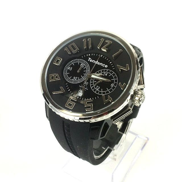 テンデンス Tendence GULLIVER ROUND ガリバーラウンド クロノグラフ 腕時計 ウォッチ TG046013 ブラック 黒 SSAW メンズ 【中古】【ベクトル 古着】 190226 VECTOR×Refine