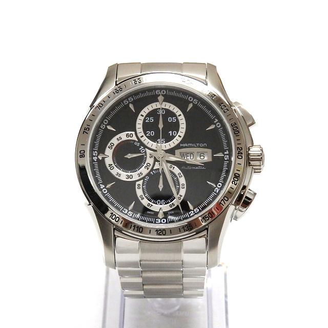 ハミルトン HAMILTON ジャズマスター ロード ハミルトン クロノグラフ 腕時計 ウォッチ H32816131 自動巻き ブラック 黒 SSAW メンズ 【中古】【ベクトル 古着】 190303 VECTOR×Refine