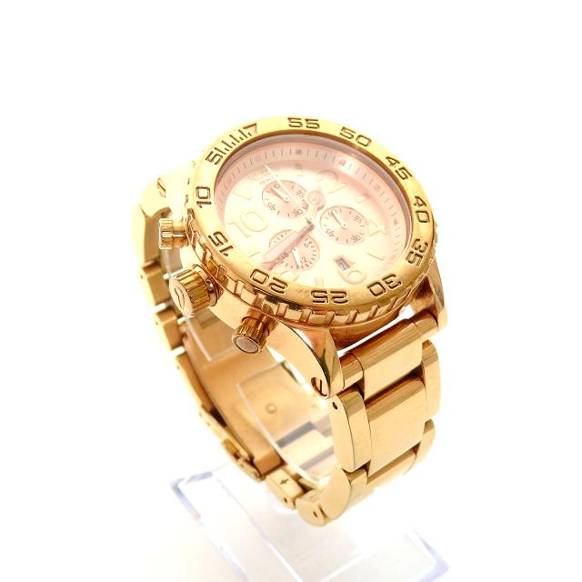 ニクソン NIXON THE 42-20 CHRONO クロノグラフ 腕時計 ウォッチ A037897 ローズゴールド SSAW レディース 【中古】【ベクトル 古着】 190322 VECTOR×Refine
