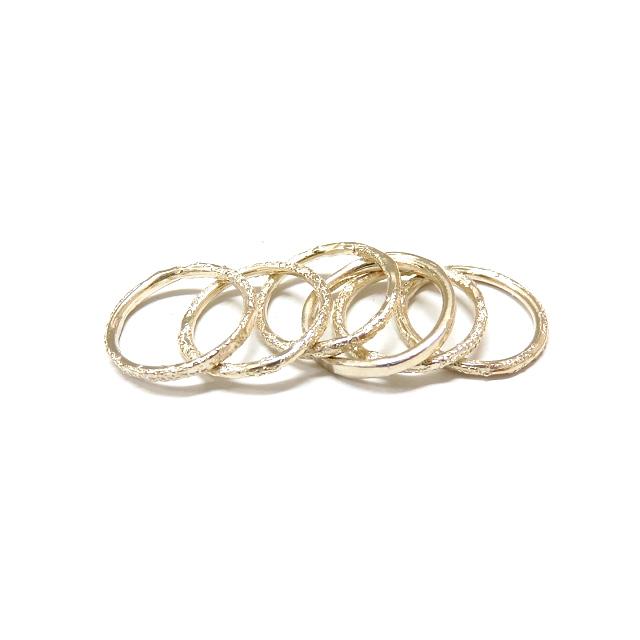 【中古】 イオッセリアーニ IOSSELLIANI シャイニー 6連 リング 指輪 アクセサリー 9号相当 シルバー 銀 SSAW レディース 【ベクトル 古着】 190329