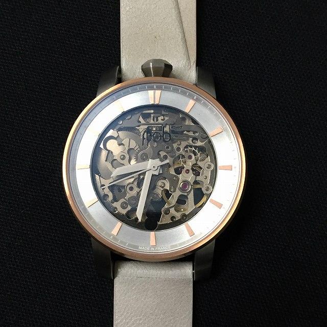 フォブ パリス fob PARIS 腕時計 機械式 レザーベルト Rehab 360 S Pink Gold ピンクゴールド メンズ レディース 【中古】【ベクトル 古着】 171117 VECTOR×Refine