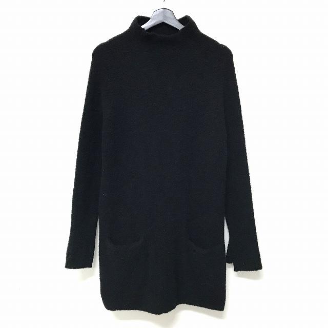 ヴィリジアン The Viridi-anne 17AW ブークレニット ボトルネック ニット セーター ポケット サムホール 1 黒 ブラック VI-2774-07 メンズ 【中古】【ベクトル 古着】 180604 VECTOR×Refine