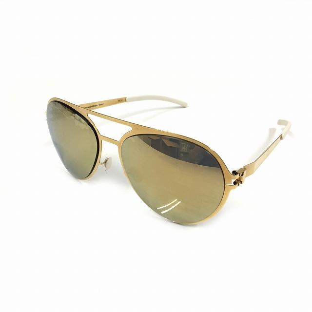 【中古】マイキータ MYKITA ベルンハルトウィルヘルム bernhard willhelm サングラス 眼鏡 GUSTL ゴールド 金 F9-GOLD GOLD FLASH メンズ 【ベクトル 古着】 180727 VECTOR×Refine