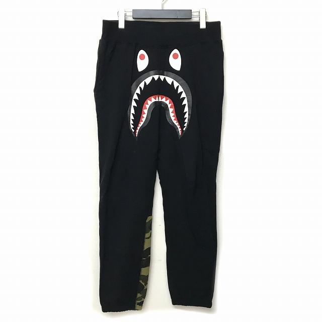 アベイシングエイプ A BATHING APE 1st CAMO SHARK SWEAT PANTS ファーストカモ シャーク スウェットパンツ ブラック 黒 S メンズ 【中古】【ベクトル 古着】 180802 VECTOR×Refine