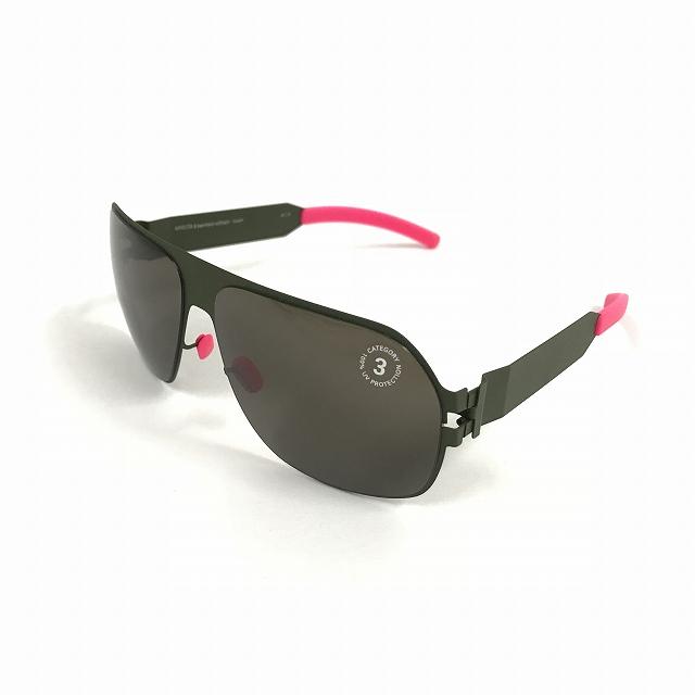 マイキータ MYKITA ベルンハルトウィルヘルム bernhard willhelm XAVER サングラス 眼鏡 オリーブ F66-OLIVE DARKBROWN SOLID メンズ 【中古】【ベクトル 古着】 180803 VECTOR×Refine