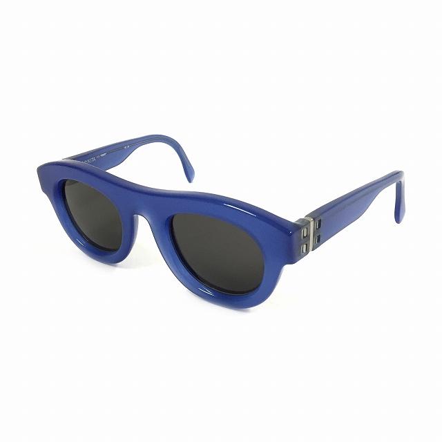 【中古】マイキータ MYKITA NO.2 SUN EGON サングラス 眼鏡 ブルー 青 MISTYBLUE BLACK SOLID col.706 メンズ 【ベクトル 古着】 180804 VECTOR×Refine