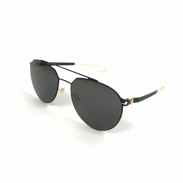 マイキータ MYKITA NO1 SUN SYLVESTER サングラス 眼鏡 BLACK/GOLDEDGES DARKGREY SOLID col.279 メンズ 【中古】【ベクトル 古着】 180805 VECTOR×Refine