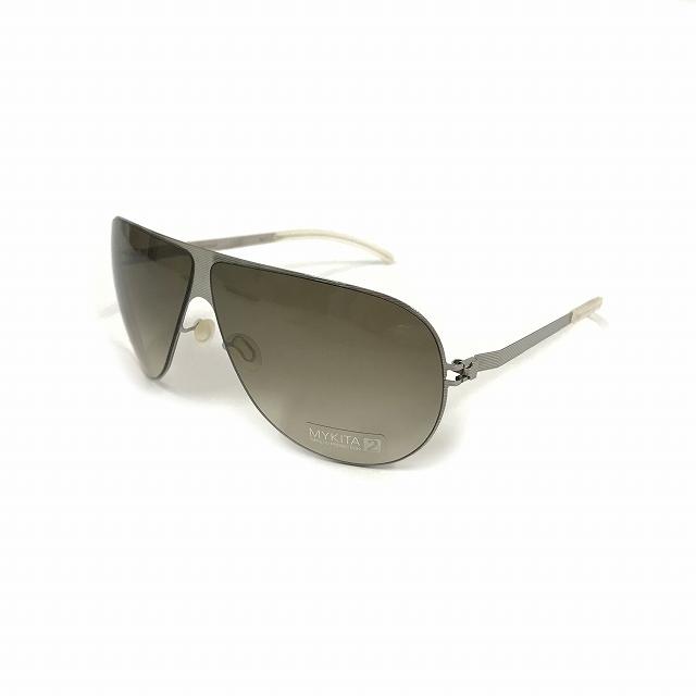 マイキータ MYKITA NO.1 SUN ELLIOT サングラス 眼鏡 シルバー SILVERLINE OLIVE GRADIENT col.700 メンズ 【中古】【ベクトル 古着】 180811 VECTOR×Refine