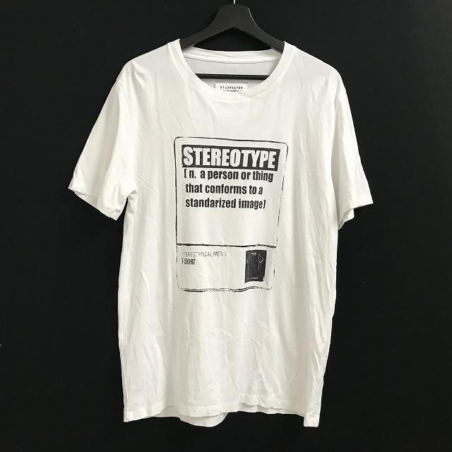 マルタンマルジェラ Martin Margiela 14 18AW Stereotype ステレオタイプ プリント Tシャツ カットソー 半袖 ホワイト 白 48 メンズ 【中古】【ベクトル 古着】 180813 VECTOR×Refine