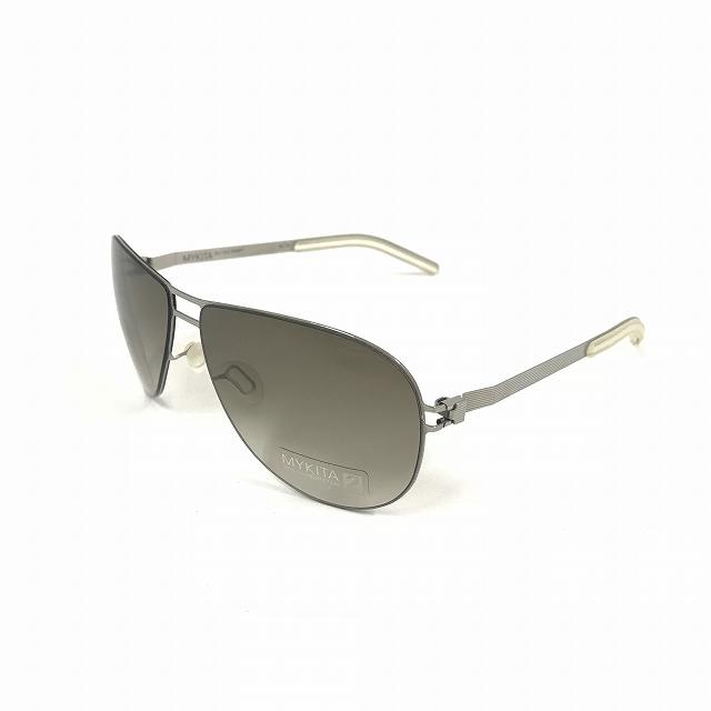 マイキータ MYKITA NO.1 SUN FANNY サングラス 眼鏡 メタルフレーム シルバー SILVERLINE OLIVE GRADIENT メンズ 【中古】【ベクトル 古着】 180816 VECTOR×Refine
