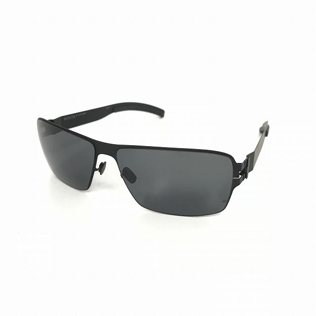 【中古】マイキータ MYKITA 1SUN LARRY サングラス 眼鏡 BLACK BLACK SOLID col.002 メンズ 【ベクトル 古着】 180816 VECTOR×Refine