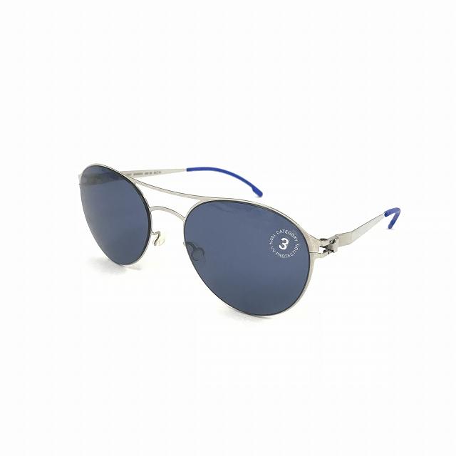 【中古】マイキータ MYKITA FIRSTSUN SPARROW サングラス 眼鏡 SHINYSILVER SAPHIREBLUE SOLID col.051 メンズ 【ベクトル 古着】 180818 VECTOR×Refine