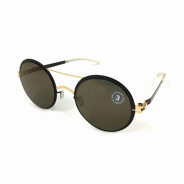 マイキータ MYKITA DECADES SUN KELLY サングラス 眼鏡 ブラック 黒 GOLD/JETBLACK BRILLIANTGREY SOLID col.167 メンズ 【中古】【ベクトル 古着】 180818 VECTOR×Refine