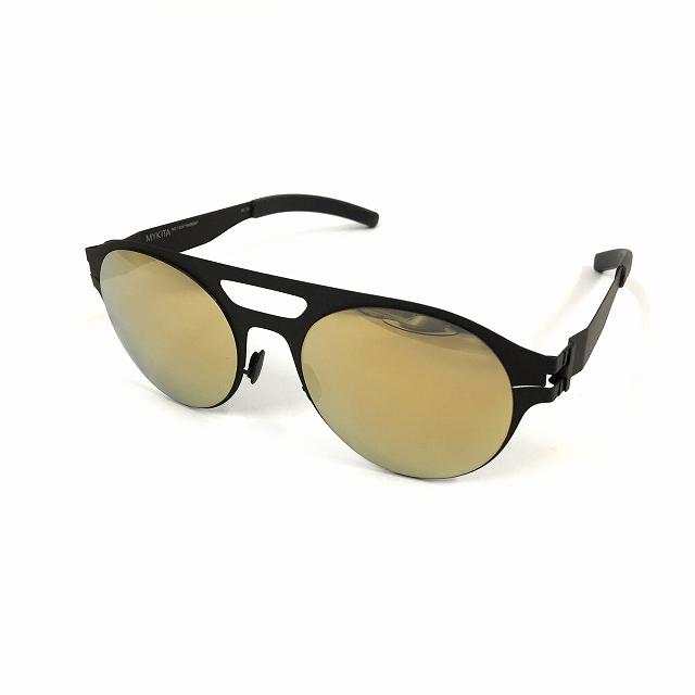 マイキータ MYKITA NO.1 SUN HUDSON サングラス 眼鏡 ブラック 黒 黒 ゴールド FLASH col.002 メンズ 【中古】【ベクトル 古着】 180819 VECTOR×Refine