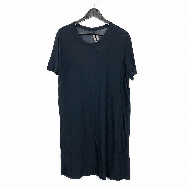 リックオウエンス Rick Owens 15SS SPHINX 斜めシーム ロング カットソー Tシャツ 半袖 カットオフ 紺 ネイビー メンズ 【中古】【ベクトル 古着】 180914 VECTOR×Refine