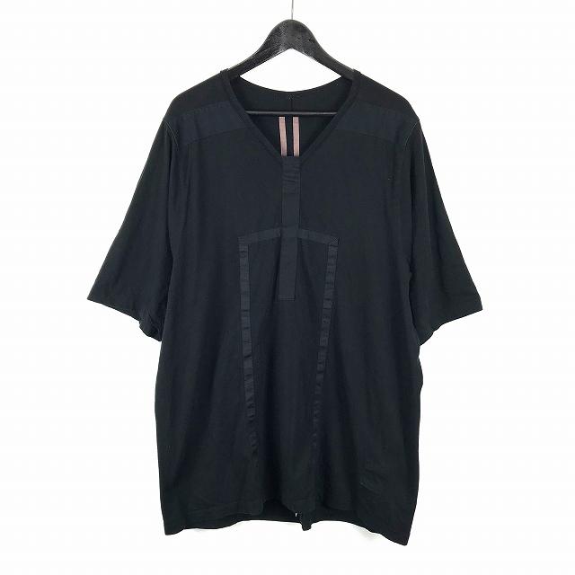 ダークシャドウ DRKSHDW 17SS JUMBO TEE GEO ライン オーバーサイズ カットソー Vネック Tシャツ F 黒 ブラック DU17S5275-RNGEO メンズ 【中古】【ベクトル 古着】 180914 VECTOR×Refine