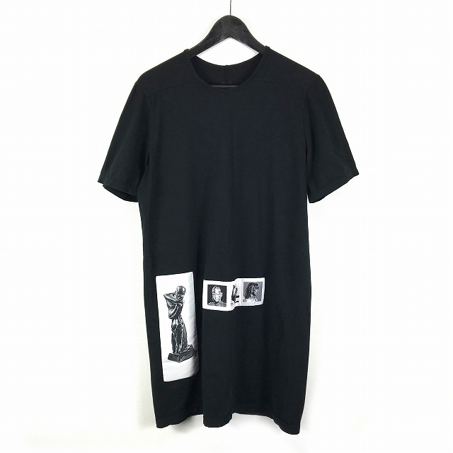 ダークシャドウ DRKSHDW 16SS LEVEL T パッチ装飾 デザイン ロング カットソー 半袖 Tシャツ S 黒 ブラック DU16S1250-RPAT1 国内正規 メンズ 【中古】【ベクトル 古着】 180914 VECTOR×Refine