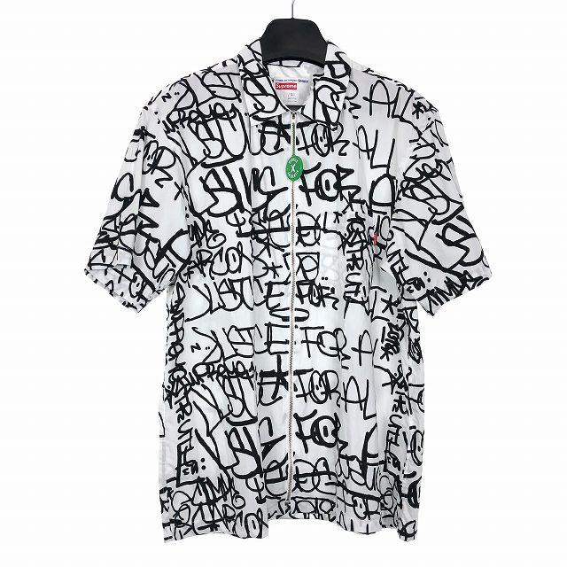 シュプリーム SUPREME コムデギャルソン COMME des GARCONS SHIRT 18AW Graphic S/S Shirt グラフィック 半袖シャツ ホワイト 白 L メンズ 【中古】【ベクトル 古着】 181014 VECTOR×Refine