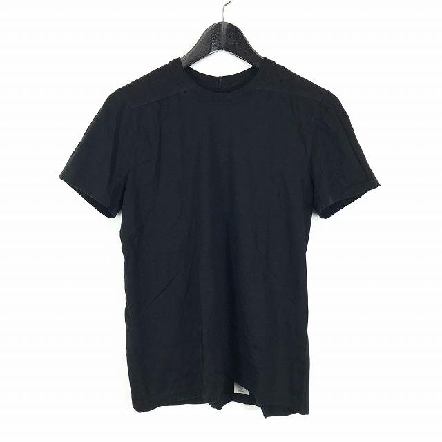 リックオウエンス Rick Owens 17SS ラウンドネック 半袖 Tシャツ カットソー ブラック 黒 XS RU17S9265-JT 国内正規 メンズ 【中古】【ベクトル 古着】 181025 VECTOR×Refine