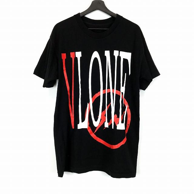ヴィーロン VLONE × fragment design 17ss FRAGMENT STAPLE TEE ロゴ プリント Tシャツ 半袖 ブラック 黒 L メンズ 【中古】【ベクトル 古着】 181026 VECTOR×Refine