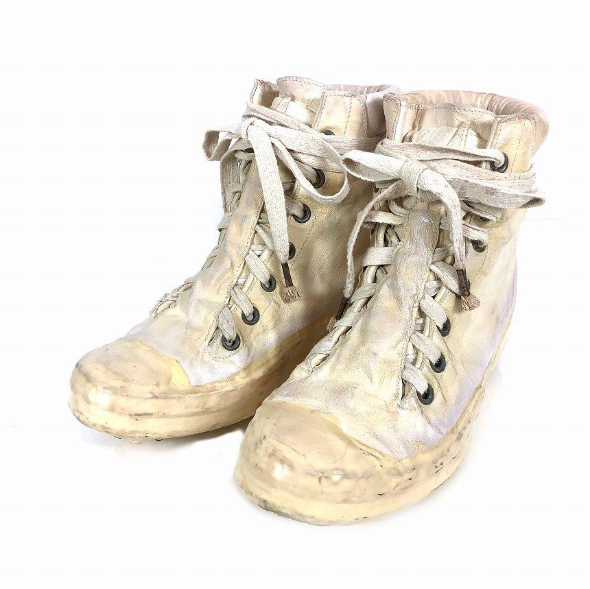 キャロル クリスチャン ポエル CAROL CHRISTIAN POELL Noseam Drip-Rubber Sneaker ドリップラバー スニーカー AM/2524 ROOMS-PTC/01 ホワイト 白 5 25.0 メンズ 【中古】【ベクトル 古着】 181127 VECTOR×Refine