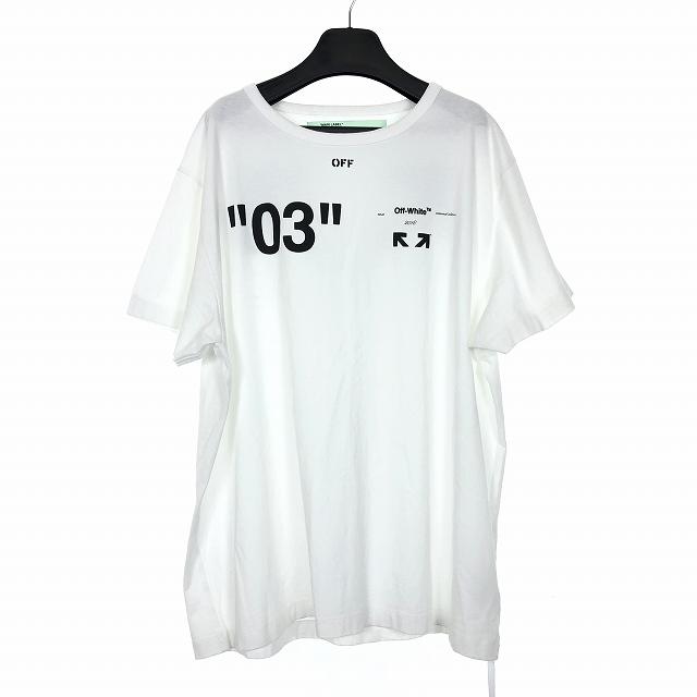 オフホワイト OFF WHITE 18AW For All 03 BACK ARROW TEE バックアロー Tシャツ 半袖 L 白 ホワイト OMAA027F18A53128 国内正規 メンズ 【中古】【ベクトル 古着】 181125 VECTOR×Refine