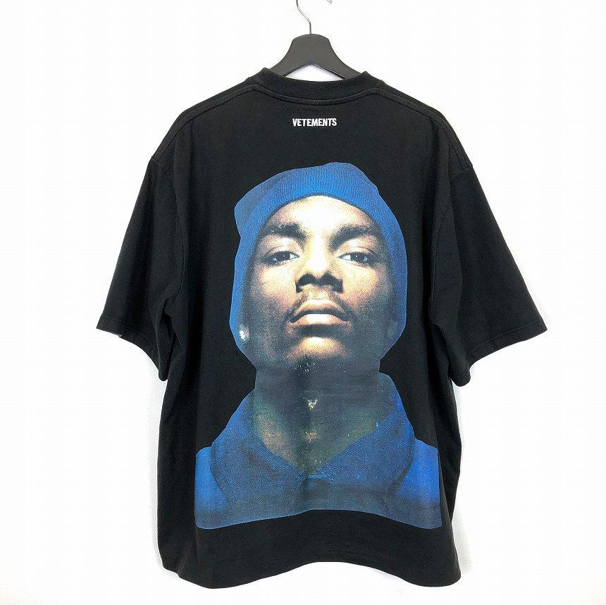 ヴェトモン ベトモン VETEMENTS 16AW Snoop Dogg スヌープドッグ バックプリント Tシャツ 半袖 オーバーサイズ ブラック 黒 XS メンズ 【中古】【ベクトル 古着】 181202 VECTOR×Refine