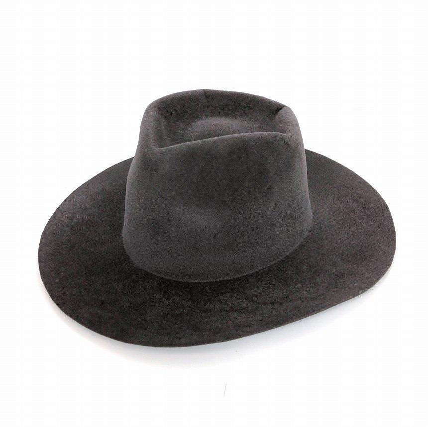 【中古】レナードプランク REINHARD PLANK 中折れ ウールハット 帽子 ベロア SMALL NANA LVE グレー L col.048 6543972016 メンズ 【ベクトル 古着】 181221 VECTOR×Refine