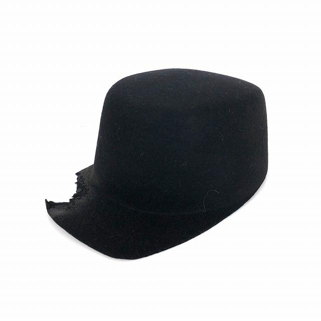 レナードプランク REINHARD PLANK フェルト ウール ワークキャップ 帽子 バーン加工 CAP W0E ブラック 黒 SIZE 11 L 6589972016 col.013 メンズ 【中古】【ベクトル 古着】 190112 VECTOR×Refine