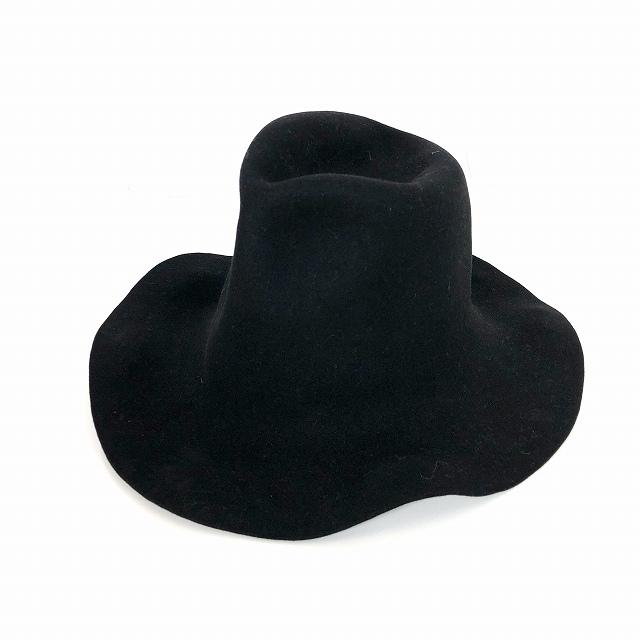 レナードプランク REINHARD PLANK ウール ワイドブリム 中折れ ハット 帽子 SPAVENTA LSB ブラック 黒 SIZE 13 XL 6589972167 col.013 メンズ 【中古】【ベクトル 古着】 190112 VECTOR×Refine