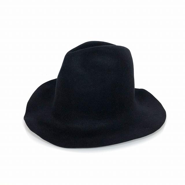 【中古】レナードプランク REINHARD PLANK ウール フェルト 中折れ ハット 帽子 SPAVENTA(PRE) LAPIN ブラック 黒 SIZE 13 XL 6589972196 col.013 メンズ 【ベクトル 古着】 190119 VECTOR×Refine