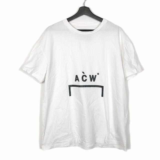 ア コールド ウォール A-COLD-WALL 18AW ロゴプリント Tシャツ カットソー 半袖 ホワイト 白 L メンズ 【中古】【ベクトル 古着】 190128 VECTOR×Refine