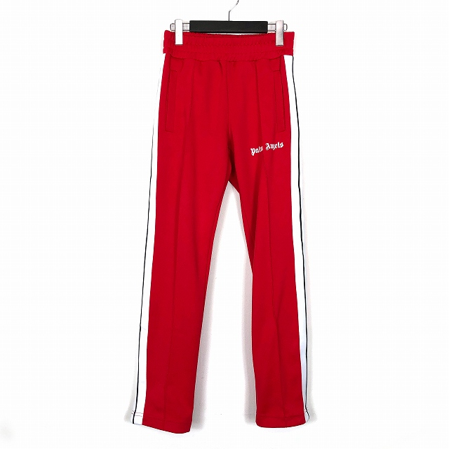 パームエンジェルス Palm Angels 18AW サイドライン ジョガーパンツ トラックパンツ 裾ジップ XS 赤 レッド PMCA007F18384005 メンズ 【中古】【ベクトル 古着】 190129 VECTOR×Refine