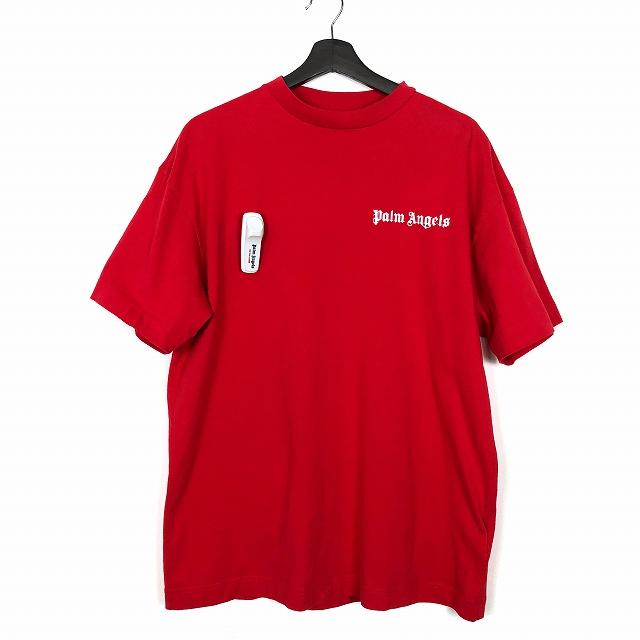 パームエンジェルス Palm Angels 18AW NEW BASIC TEE ロゴプリント Tシャツ 半袖 L 赤 レッド PMAA001F184130182001 メンズ 【中古】【ベクトル 古着】 190129 VECTOR×Refine