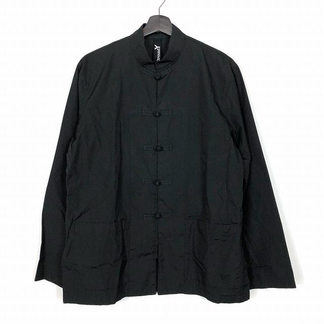 ヨウジヤマモト YOHJI YAMAMOTO グランドワイ Ground Y 19SS チャイナシャツ 100/2 ブロード 長袖 ブラック 黒 3 メンズ 【中古】【ベクトル 古着】 190202 VECTOR×Refine