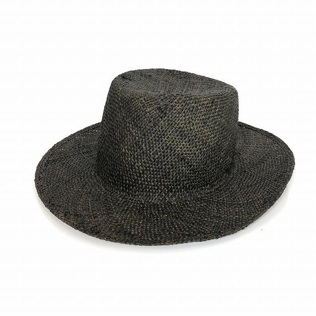 レナードプランク REINHARD PLANK ワイドブリム ストローハット 麦わら帽子 PISANO BAO ブラック 黒 SIZE 13 XL 6589971058 col.013 メンズ 【中古】【ベクトル 古着】 190207 VECTOR×Refine