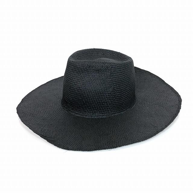 レナードプランク REINHARD PLANK ワイドブリム ストローハット 麦わら帽子 NANA RAS 黒 ブラック SIZE 13 XL 6589971054 col.013 メンズ 【中古】【ベクトル 古着】 190207 VECTOR×Refine